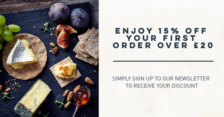 Enjoy 15% off your first order over £20